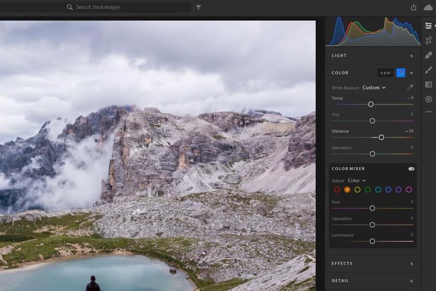 Istnieje wiele dobrych programów do obróbki zdjęć - jednym z nich jest Adobe Lightroom.